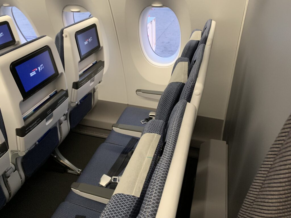 British Airways Airbus A350 Economy seat final row