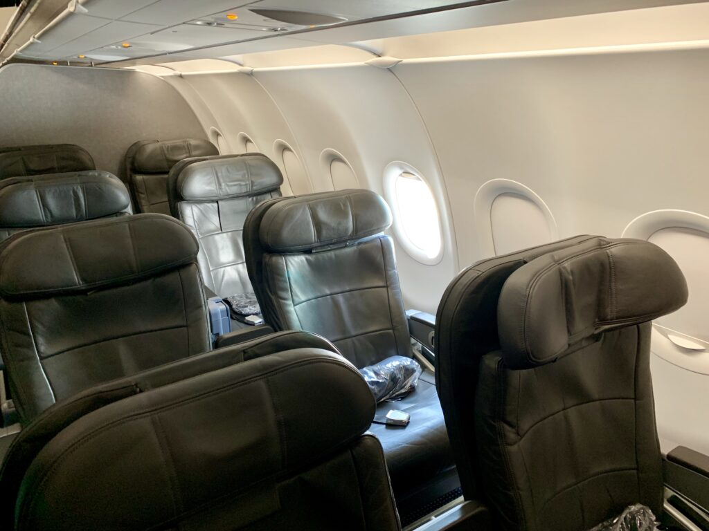 American first class cabin