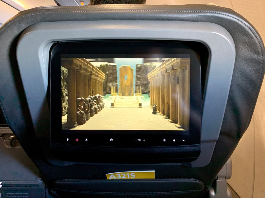 American Airlines A321 seatback