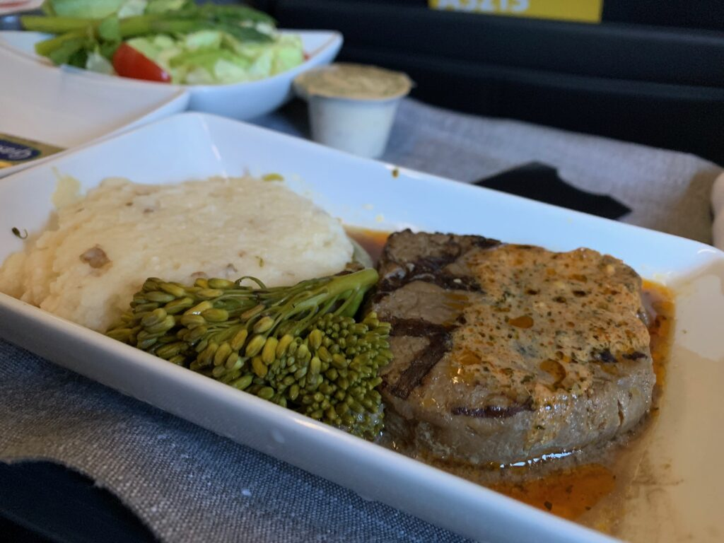 American Airlines First Meal