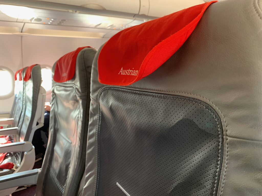 Seating on board Austrian