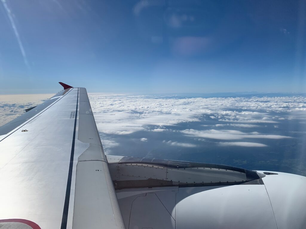 Onboard Austrian airlines