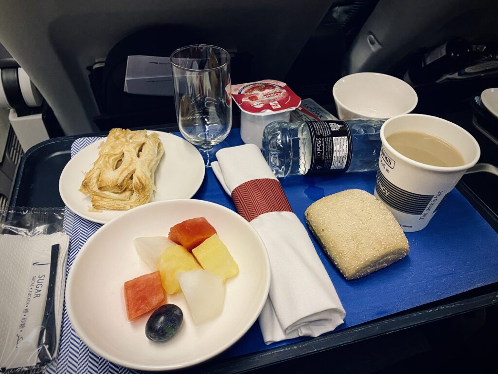 World traveller plus meal tray