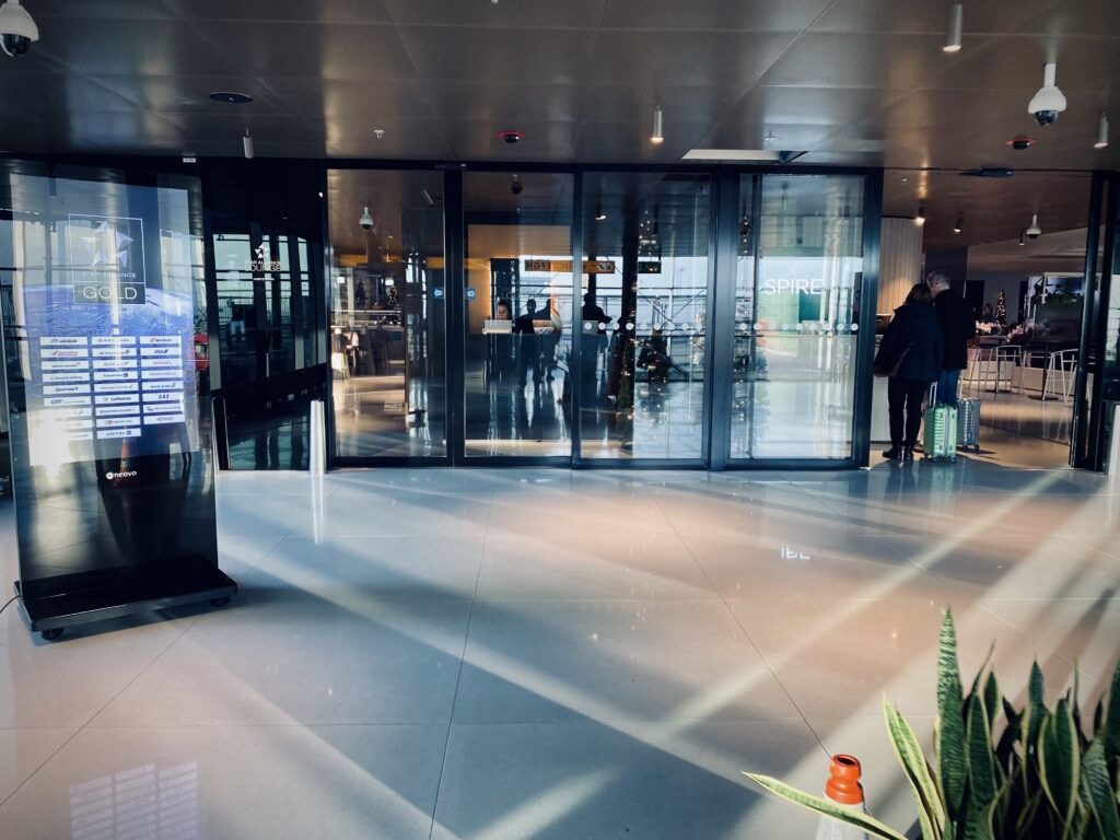 Star Alliance Lounge entry