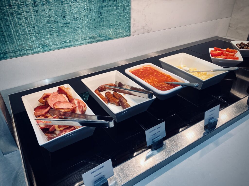 Arrivals lounge catering