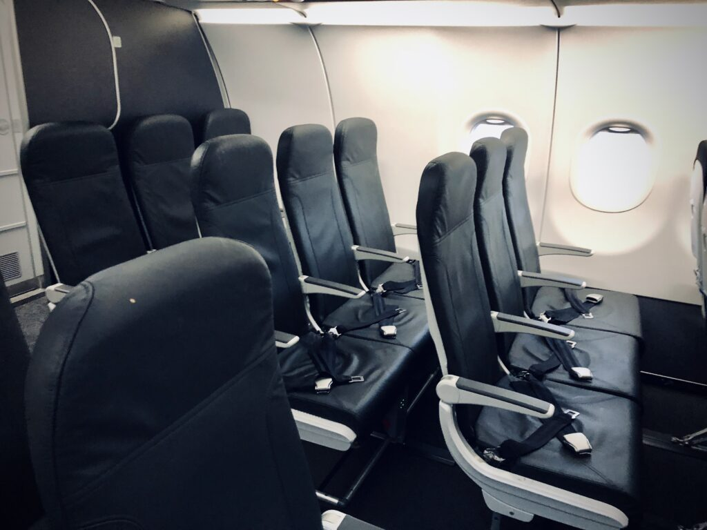 Non reclining seats on an A320neo