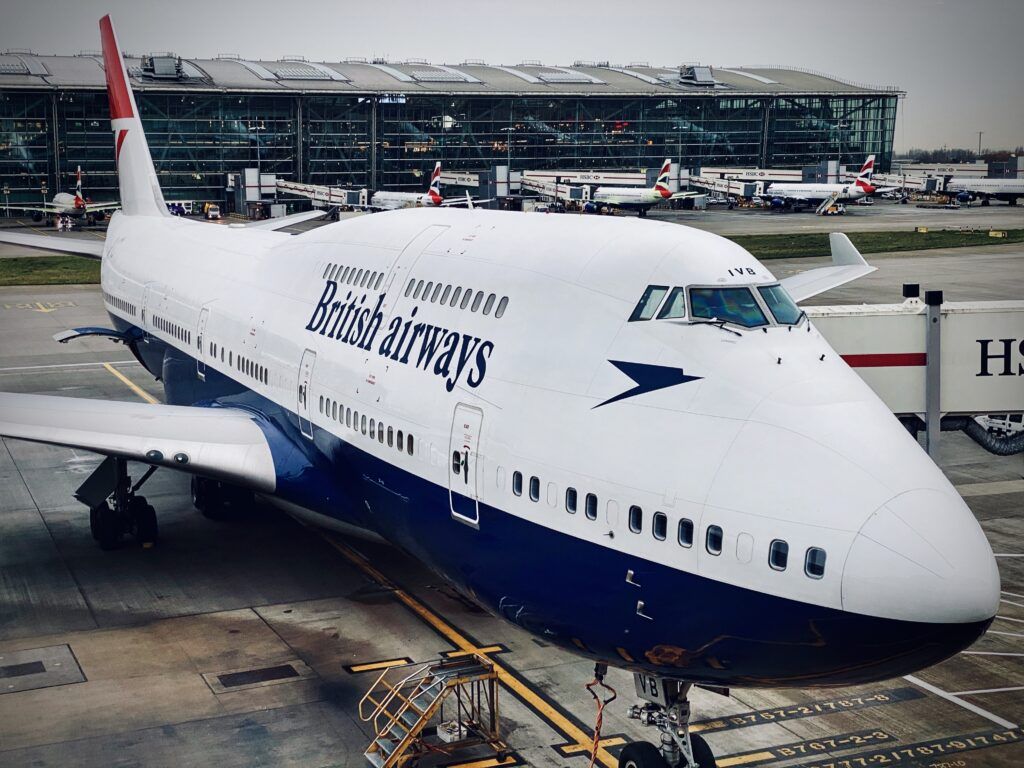British Airways 747 at Heathrow