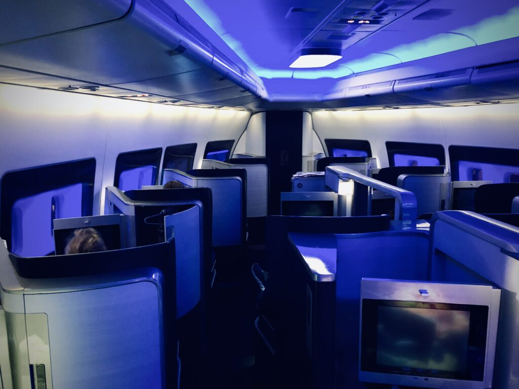 British Airways 747 First cabin
