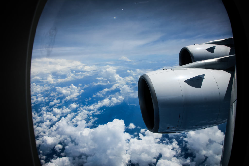 Malaysia Airlines A380 wing view