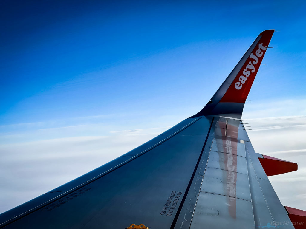 EasyJet A320 wing view